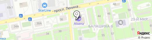 Бриошь на карте Балашихи