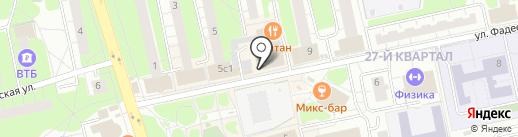 Семерочка на карте Балашихи