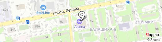 СИНХРО СТАРС на карте Балашихи