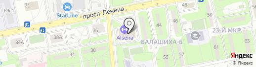 ФИТНЕС СТАР на карте Балашихи