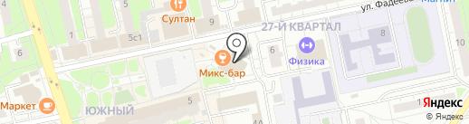 На Фадеева на карте Балашихи