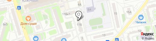 Некрасовский на карте Балашихи