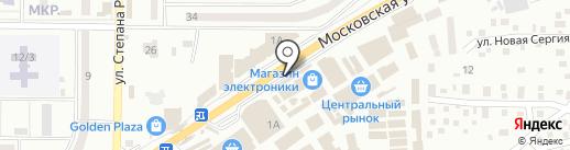 MEGA на карте Макеевки