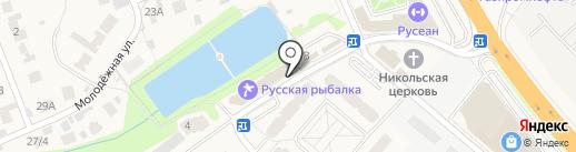 Русская рыбалка на карте Островцев