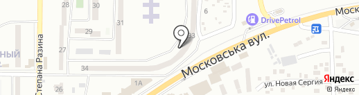 Солнечное на карте Макеевки