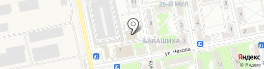 Мединко на карте Балашихи