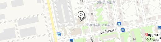 Балашиха на карте Балашихи