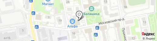 Мак на карте Балашихи