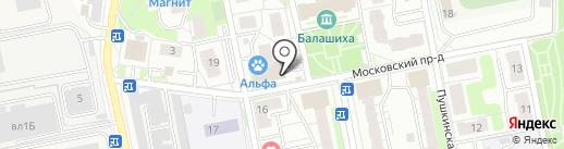Мактейлор на карте Балашихи