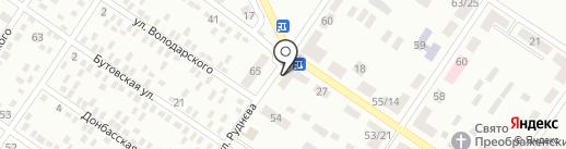 Магазин овощей и фруктов на ул. Руднева на карте Макеевки