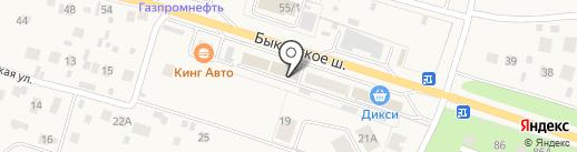 МБЛ на карте Малаховки