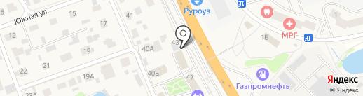 Вездеход на карте Октябрьского