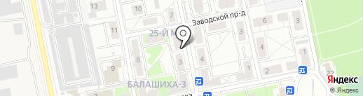 Ла Вида на карте Балашихи