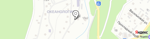 Института Океанологии РАН им. П.П. Ширшова на карте Геленджика