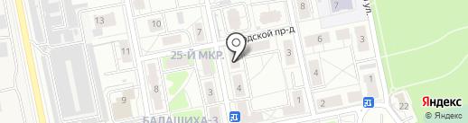 На Октябрьской на карте Балашихи
