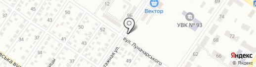 Автостоянка на ул. Руднева на карте Макеевки