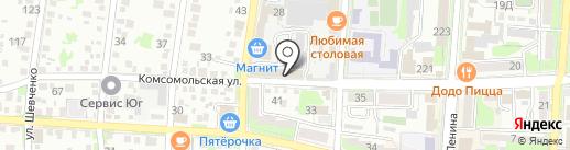 Горная вершина на карте Крымска