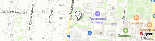 Призыв на карте Крымска