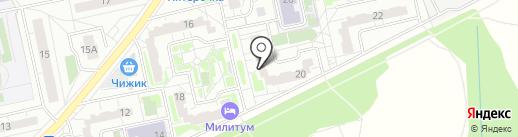 Милена на карте Балашихи