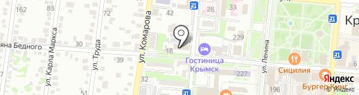 Администрация Крымского городского поселения на карте Крымска