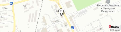 Стоматология на ул. Репина (Горняцкий) на карте Макеевки