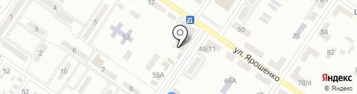 Ласпи на карте Макеевки