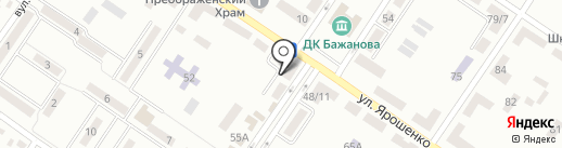Горняк на карте Макеевки