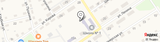 Октябрьская средняя общеобразовательная школа на карте Киреевска