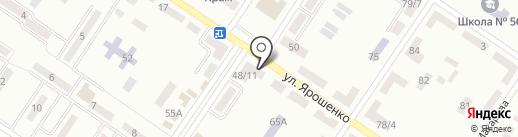 Этюд на карте Макеевки
