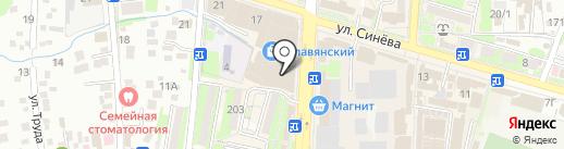 Магазин женской одежды на карте Крымска