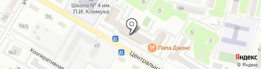 Магазин матрасов на Центральной на карте Щёлково