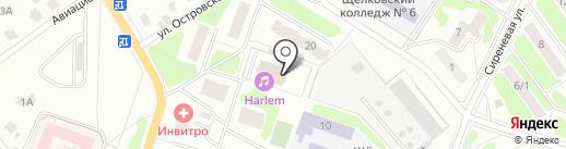 Медведь на карте Щёлково