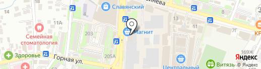 Ермолинские полуфабрикаты на карте Крымска