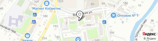 Сетан на карте Крымска