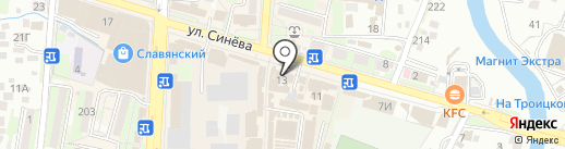 Банкомат, ЮГ-Инвестбанк на карте Крымска