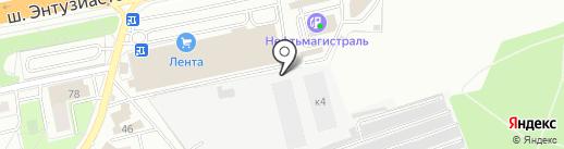 Автолюбитель на карте Балашихи