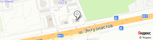 Эвакуатор 1500 на карте Балашихи