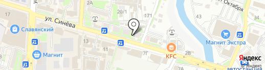 Шарм на карте Крымска