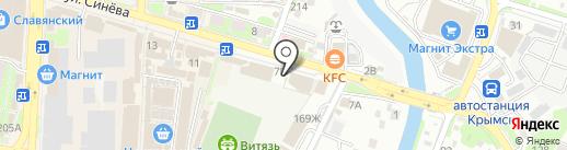 Салют на карте Крымска
