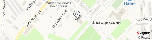 Пятёрочка на карте Шварцевского