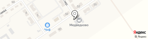 Медведково, ЗАО на карте Киреевска