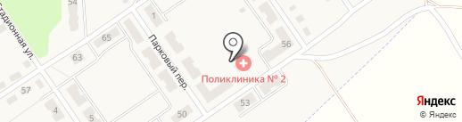Поликлиника №2 на карте Киреевска