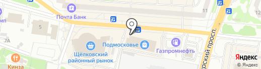 Карандаш на карте Щёлково