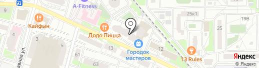 Городок мастеров на карте Железнодорожного