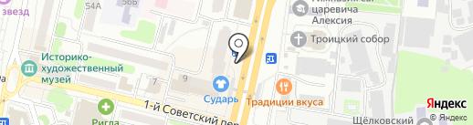 Каравай СВ на карте Щёлково