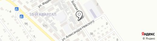 Продовольственный магазин на Бойкой на карте Макеевки