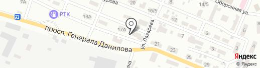Вираж, автомагазин на карте Макеевки