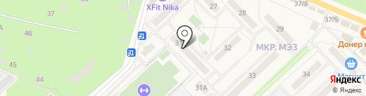 Труд на карте Малаховки