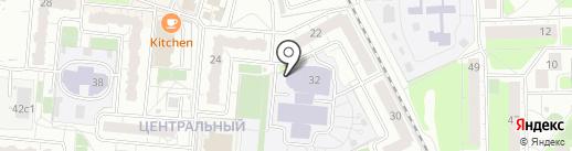 Средняя общеобразовательная школа №14 на карте Балашихи