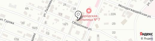 Ночной квартал на карте Макеевки